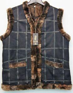 UNISEX 100% REAL SHEEPSKIN SHEARLING LEATHER Fur Vest 10 Colors Men Women S-6XL
