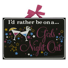 Black Glass Wall Quote Plaque Pink Ribbon ~ Girls Night ~ Gift ~ FG457 SALE