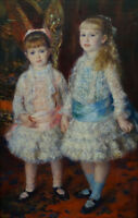"""perfect 24x36 oil painting handpainted on canvas""""two girls""""N14285"""