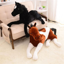 Simulation Animal Horse Plush Toy Stuffed Soft Prone Horse Doll Birthday Gifts