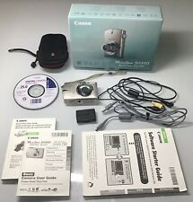 Canon Powershot SD550 - 7.1MP Digital Camera 3x Optical Zoom Silver WORKS