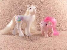 1989 And 1986 Hasbro MLP Toy My Little Pony G1 Pony Bride Baby Heart Throb