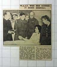 1942 Sadie Abercrombie Waaf Hospital Wedding Gunner Alec Ogilvie Cambuslang