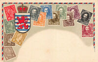 Luxembourg Stamps on Early Postcard, Unused, Published by Ottmar Zieher