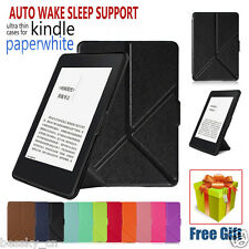 Magnetic Leather Cover Case For 2016 Kindle Paperwhite 7th 6 inch+Free Gift LOT