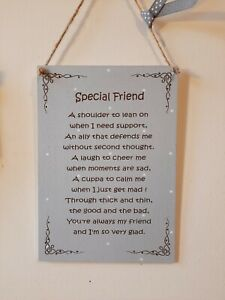 FRIEND SIGN. FRIENDSHIP GIFT HOME PLAQUE