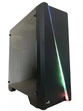 LED Gaming PC, i7 860, GTX 960, 8GB RAM, 500GB Storage WIN 10 Pro, Clear Window