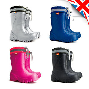 Thermal CHILDREN Wellington BOOTS EVA Outer Rain Shoes Kids Wellies /// -35 dgr
