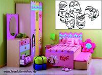 Sticker Aufkleber - Wandtattoo - Kinderzimmer - XXL  Set  IN Schwarz