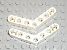 2 x LEGO technic white liftarm bent ref 32348 / Set 10212 8262 9398 10179 10247