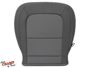 2016 2017 2018 Chevy Colorado LS LT - Driver Side Bottom Cloth Seat Cover Gray