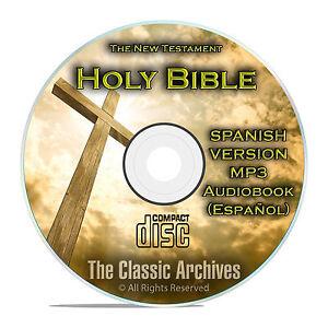 New Testament, Spanish Audio book, Bible Biblia Espanol Libro Jesus MP3 CD F25