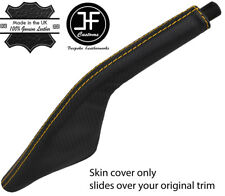 YELLOW  STITCH CARBON FIBER VINYL HANDBRAKE BOOT FOR PORSCHE 924 944 968 75-95