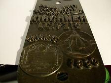 Große Bronze Metall? Platte Messe Leipzig 1893