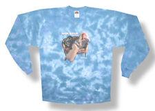 Janis Joplin-Weird People Quote- X-Large Longsleeve Blue Tie Dye T-shirt