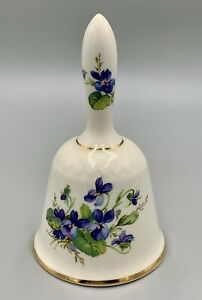 Vintage Lord Nelson Pottery Bell with Violets Fine Staffordshire Ceramics RARE
