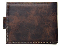 Wallet Leather PU Bifold Short Wallets Men Hasp Vintage Male Purse Coin Pouch