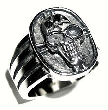 Ring, size 13 - 20mm Wide! Men'S =Laughing Skull= Stainless Steel Statement