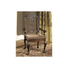 Ashley North Shore Dark Brown Dining Upholstered Arm Chair Set Of 2 D553 03a
