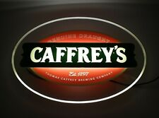 Original Vintage Retro CAFFREY'S LIGHT UP BAR SIGN Man Cave Caffreys Brewery