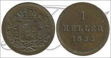 Alemania / Baviera  1852 KM00796.2 MBC / VF 1 Heller 1852 Cu