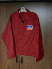 1970's FORD TRUCKS light weight jacket Men's size LARGE Red Nylon VGC VINTAGE