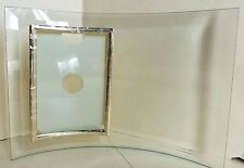 "NIB CURVED BEVELED GLASS VERTICAL PICTURE PHOTO FRAME~3-1/2"" x 5""~"