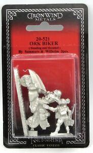 Ral Partha 20-521 Ork Biker [Standing & Mounted] (Shadowrun) Orc Gang Mercenary