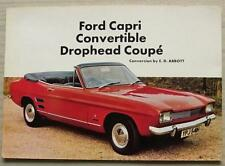 FORD CAPRI CONVERTIBLE DROPHEAD COUPE CONVERSION By ABBOTT Sales Leaflet c1970