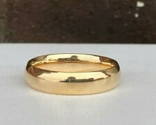 14K GOLD COMFORT FIT 5.5MM POLISHED WEDDING BAND SZ.11 8.0 GRAMS