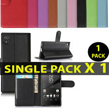 For Various Sony Experia Mobiles Megnatic Leather Wallet Book Flip Case Pouch