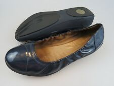 Fitflop FF2 F-Pop Blue Patent Leather Ballet Flats Shoes Womens Size EU 42 US 10