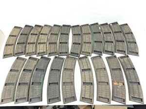 Vintage 21pc A.C. Gilbert #727 Curved Rubber Roadbed Track S Gauge SEE PICS