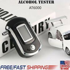Alcohol Tester Digital Breath  LCD Breathalyzer Analyzer With 5 Mouthpiece Ek