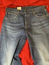 "BNWT LEE Loose Straight Mens Wide Leg Blue Jeans W 33"" x L 32"""