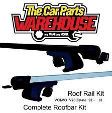 Full Roof Rack Bar Kit SUM521 Mountney WITH RAILS VOLVOV70 Estate97-13