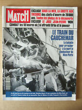 PARIS MATCH 1991 N° 2214 COLLISSION TRAIN NICE PARIS. CALANQUE SOMIOU CASSIS