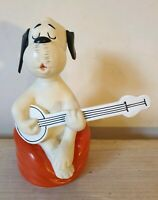 Goebel Loriot Rubber Wum Dog Figure Novelty 1960's Banjo Player Doggy 7""