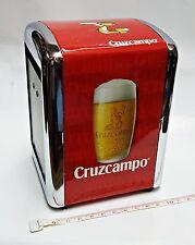 Servilletero de Cerveza Cruzcampo.