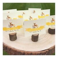 Woodland party Food labels party sign Cake Topper Bunting Birthday Decorations