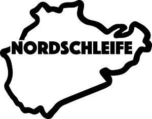 NORDSCHLEIFE RACE CIRCUIT. Car vinyl sticker F1 British Grand Prix Formula One
