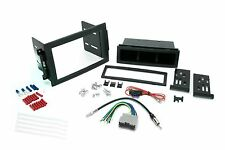 Chrysler Dodge Jeep Single Din Dash Kit for Radio Stereo w/ Wire Harness Antenna