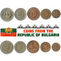 5 BULGARIAN COINS DIFFERENT EUROPEAN COINS FOREIGN CURRENCY, VALUABLE MONEY
