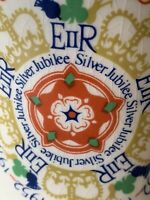 Queen of England Coffee Tea Mug Cup Silver Jubilee 52-77 Vintage Fordham Pottery