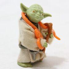 "Star War Yoda 1.875"" tall Complete Snake Cane Cloak Coat Belt 1980 Kenner Toy"