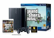 Sony PlayStation 3 PS3 Super Slim 500GB Grand Theft Auto V GTA 5 Controller HDMI