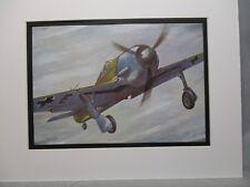 Focke Wolf FW 190 German Model Airplane Box Top Art Color  artist older aircraft