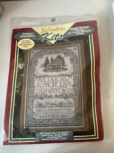 Vintage Just Cross Stitch Kits English Cottage Sampler Teresa Wentzler # 40021