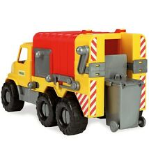 Wader 46cm Spielzeug LKW Müllwagen Spielzeugauto Sandfahrzeug Müllauto Lastwagen