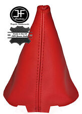 RED LEATHER GEAR STICK GAITER FITS PEUGEOT 107 CITROEN C1 TOYOTA AYGO 09-14